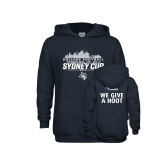 Youth Navy Fleece Hoodie-2017 College Football Sydney Cup