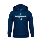 Youth Navy Fleece Hood-Stacked Baseball Design
