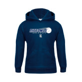 Youth Navy Fleece Hood-Fast Ball Baseball Design
