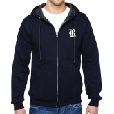 Navy Fleece Full Zip Hoodie-R