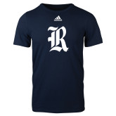 Adidas Navy Logo T Shirt-R