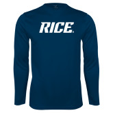 Syntrel Performance Navy Longsleeve Shirt-Rice