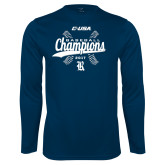 Syntrel Performance Navy Longsleeve Shirt-Conference USA Baseball Champions