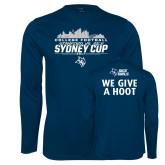 Performance Navy Longsleeve Shirt-2017 College Football Sydney Cup