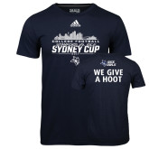 Adidas Climalite Navy Ultimate Performance Tee-2017 College Football Sydney Cup