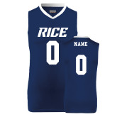 Replica Navy Adult Basketball Jersey-Rice