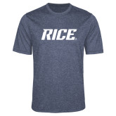 Performance Navy Heather Contender Tee-Rice