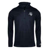 Russell Navy Heather 1/4 Zip-Owl Head