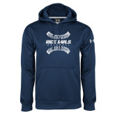 Under Armour Navy Performance Sweats Team Hood-Baseball