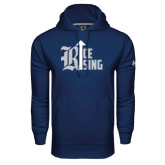 Under Armour Navy Performance Sweats Team Hood-Rice Rising