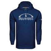Under Armour Navy Performance Sweats Team Hood-Arched Football Design