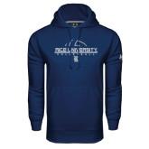 Under Armour Navy Performance Sweats Team Hood-Volleyball Design