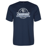 Performance Navy Tee-Womens Basketball Invitational Champions Ball