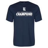 Performance Navy Tee-2017 Womens Soccer Champions