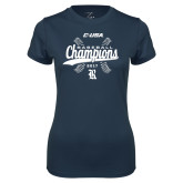 Ladies Syntrel Performance Navy Tee-Conference USA Baseball Champions