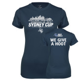 Ladies Syntrel Performance Navy Tee-2017 College Football Sydney Cup