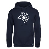 Russell DriPower Navy Fleece Hoodie-Owl Head