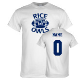 White T Shirt-Rice Owls Football Dad