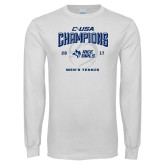 White Long Sleeve T Shirt-Conference USA Mens Tennis Champions