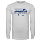 White Long Sleeve T Shirt-2018 Rice Regular Season Volleyball Champions