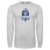 White Long Sleeve T Shirt-2018 CUSA Volleyball Champions
