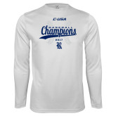 Syntrel Performance White Longsleeve Shirt-Conference USA Baseball Champions