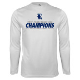 Performance White Longsleeve Shirt-2017 Womens Soccer Champions
