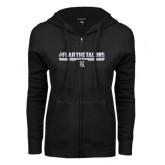 ENZA Ladies Black Fleece Full Zip Hoodie-#FEARTHETALONS