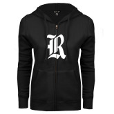 ENZA Ladies Black Fleece Full Zip Hoodie-R