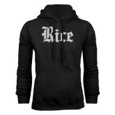 Black Fleece Hood-Rice Wordmark