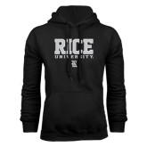 Black Fleece Hood-Rice University Stacked