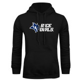 Black Fleece Hoodie-Rice Owls Stacked