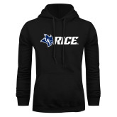 Black Fleece Hoodie-Owl Head Rice