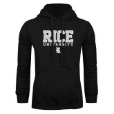 Black Fleece Hoodie-Rice University Stacked