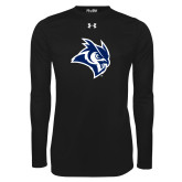 Under Armour Black Long Sleeve Tech Tee-Owl Head