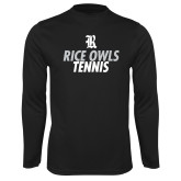 Syntrel Performance Black Longsleeve Shirt-Tennis