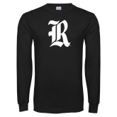 Black Long Sleeve T Shirt-R Distressed