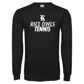 Black Long Sleeve T Shirt-Tennis