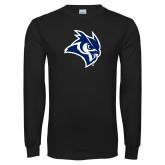 Black Long Sleeve T Shirt-Owl Head