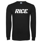 Black Long Sleeve T Shirt-Rice
