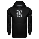 Under Armour Black Performance Sweats Team Hood-Official Logo