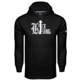 Under Armour Black Performance Sweats Team Hood-Rice Rising