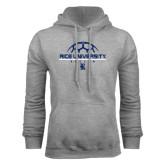 Grey Fleece Hood-Soccer Design