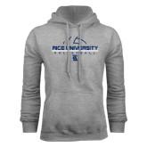 Grey Fleece Hood-Volleyball Design
