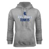 Grey Fleece Hood-Stacked Type Tennis Design