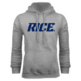 Grey Fleece Hoodie-Rice