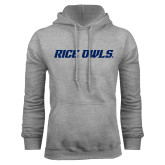 Grey Fleece Hoodie-Rice Owls