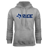 Grey Fleece Hoodie-Owl Head Rice