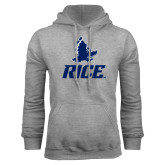 Grey Fleece Hoodie-Full Owl Rice Stacked