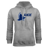 Grey Fleece Hoodie-Full Owl Rice